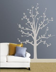 It might be cool to paint this  then hang some tiny white lights on the branches?