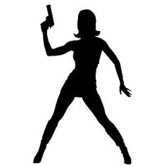 GIRL with GUN car window sticker by thatstickerguy on Etsy, $3.59