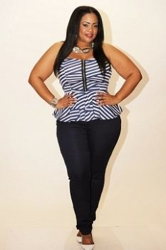 Another peplum. I love em! Sexy plus size outfit