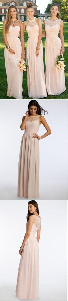 Mismatched Different Styles Chiffon Blush Pink Modern Formal Floor-Length Cheap Bridesmaid Dresses, The long bridesmaid dresses are fully lined, 4 bones in the bodice, chest pad in the bust, lac Wedding Party Dresses, Prom Dresses, Chiffon Dresses, Blush Pink Bridesmaid Dresses, Bridesmaid Tips, Wedding Bridesmaids, Dress Vestidos, Affordable Dresses, Dream Dress