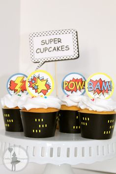 Superhero Party Cupcake Package Printable by craftybouquets, $10.00