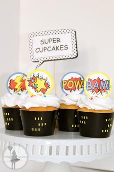 Superhero Party Cupcake Package: (Printable Edition). $10.00, via Etsy.