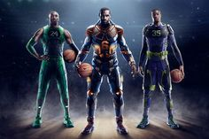 Giving their signature athletes, LeBron James, Kobe Bryant, and Kevin Durant, the superhero treatment, @Nike Basketball releases this first look at their postseason Elite 2.0 series shoes.
