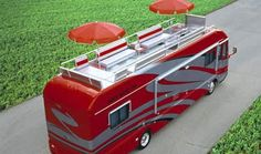 October 2004 Mobile homes have come a long way since the days of the humble caravan. With the SkyDeck motorhome from Airstream you really can take it all w Cool Campers, Rv Campers, Happy Campers, Bus Camper, Camper Life, Vintage Caravans, Vintage Travel Trailers, Cool Rvs, Enjoy The Ride
