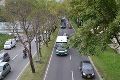 Antes del día sin carro 2012 en Medellín. Lugar: Autopista sur, a la altura de la Av 33. Fecha: 19 de abril de 2012 - 5:04pm