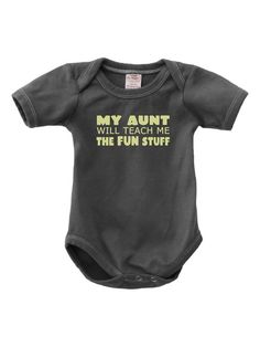 Organic Fun Aunt Onesie by Urban Smalls at Gilt