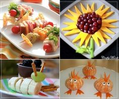Sandwiches - Lunch on a Stick. Get the kids to eat their fruit fun food ideas