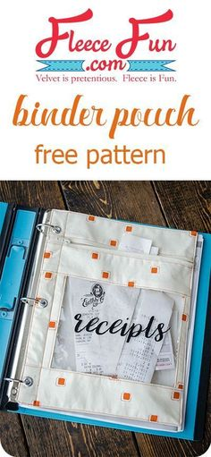 I love this binder pouch sewing tutorial. Such a great DIY idea, perfect for keeping my craft space organized! Love this sewing project.