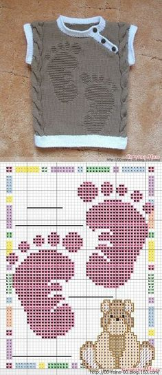 NHAD 针织背心 -  - 网易博客 Baby Knitting Patterns, Knitting For Kids, Kids And Parenting, Cross Stitch Embroidery, Crochet Top, Free Pattern, Arts And Crafts, Sewing, Diy And Crafts