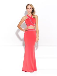 Make a statement in this Madison James two-piece gown!