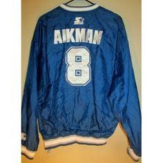 Vintage Starter Troy Aikman , Dallas Cowboys pullover jacket , Large - Football-NFL