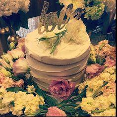 Love! #cutsofconfetti #love #wedding #bridalshower #goldglitter #bride #celebration #happilyeverafter #nakedcake