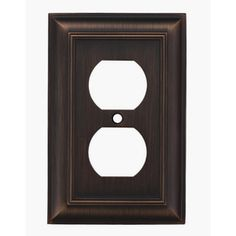 allen   roth�1-Gang Oil Rubbed Bronze Standard Duplex Receptacle Metal Wall Plate