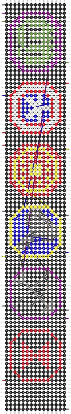 Alpha Pattern #5373 added by Lagarto26 | Marvel Avengers Friendship Bracelet