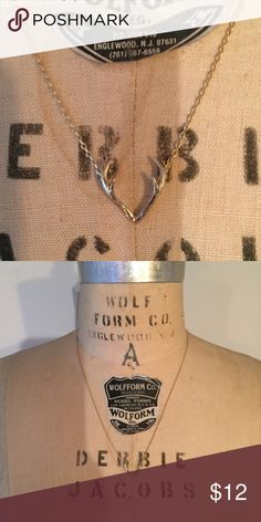 """Dainty Antler Rack Gold Charm Necklace 20"""" - price firm Jewelry Necklaces"""
