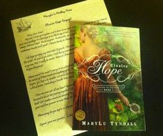 I got Elusive Hope by MaryLu Tyndall yesterday!