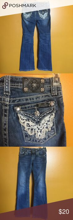 Totally cute size 10 kids miss me jeans Lightly worn Bottoms Jeans