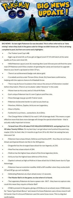 Someone Decoded Pokemon Go, and found these in-game facts.