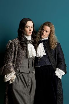 Alexander Vlahos as Philippe Duc D'Orleans and Evan M Williams as Le Chevalier de Lorraine in 'Versailles' (2015, Canal+ Production)