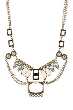Multi Chain Deco Necklace by Office Chic: Jewelry Picks on @HauteLook