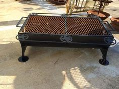 "Patio Grill   36"" Wide x 20"" Deep   $395  Rustiquities Dealer #8283  Lula B's  1010 N. Riverfront Blvd. Dallas, TX 75207  Open Daily Mon. -- Sat. 10 to 6 Sun. 12 to 6  Like us on Face"