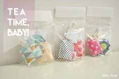 fabric teabags for kids