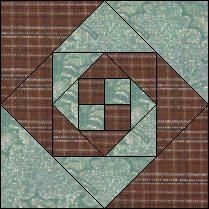 Snail's Trail Pattern is an interesting quilt block pattern.