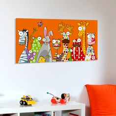 Un tableau qui apporte dans la chambre de votre enfant une touche colorée avec un univers humoristique, plein de poésie, de douceur et de rêve.