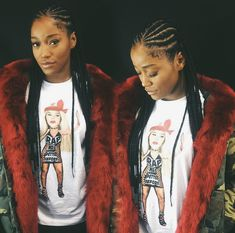 Cornrows with individual box braids. #KekePalmer