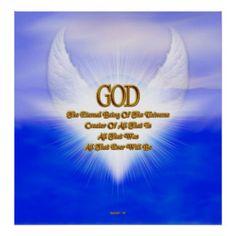 GOD Eternal Creator Original Blue Gold Matte Print $22.15