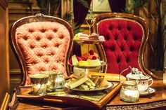 "Mr. Fogg's in London. The quirky Victorian-themed cocktail bar was inspired by the hero of Jules Vernes' classic novel Around The World In Eight Days and offers ""Tipsy Tea"" every Friday."