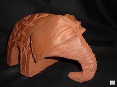 """PSA 15-49"" sculpture éléphant 2012 © Michèle Ruffin"