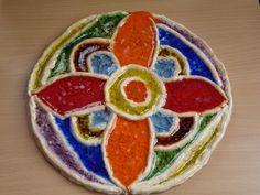 Keramika se sklem mandala2