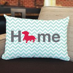 Righteous Hound - Dachshund Home Pillow, $28.00 (http://www.righteoushound.com/Home-dachshund-Pillow/)