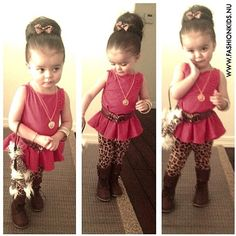 Too cute! I love the leggings for a little girl! Plus that hair so adorable!