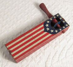 Vintage American Flag Tin Noise Maker