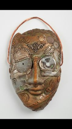 Tick Tock - Steampunk Polymer Clay Mask