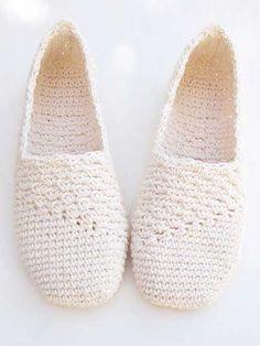 Crochet - Slanting Line Basic Slipper - #RAC1449