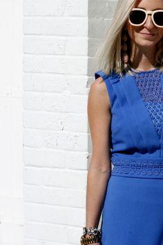 pretty blue lace dress spring