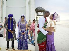 Two cultures celebrating marriage Indian & Nigerian Wedding
