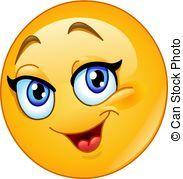 Happy female emoticon vector image on VectorStock Emoticon Feliz, Happy Face Emoticon, Emoji Feliz, Emoticon Faces, Funny Emoji Faces, Funny Emoticons, Smiley Faces, Smiley Emoji, Big Emoji