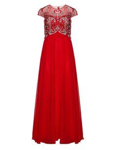 angel forever Embellished evening gown