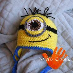 Crochet Minion Hat (up close)