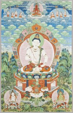 centuriespast:  Probably a form of Avalokiteshvara, the Bodhisattva of CompassionPaintings for the Panchen Lama's temple at Jehol (Chengde)Artist/maker unknown, Sino-TibetanGeography:Made in Chengde (Jehol), Inner Mongolia, China, AsiaPeriod:Qing Dynasty, Qianlong reign (1736-1795)Date:1779-1780Medium:Colors on cloth with cloth mounting  Philadelphia Museum of Art