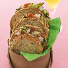 Recette petits sandwichs au crabe à la bière - Cuisine / Madame Figaro
