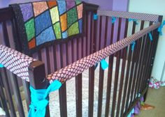 Shop for on Etsy, the place to express your creativity through the buying and selling of handmade and vintage goods. Crib Rail Guard, Cribs, Custom Made, Baby Kids, Creative, Fabric, Handmade, Etsy, Vintage