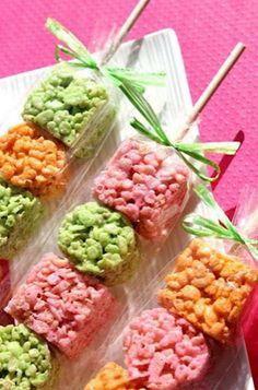 Rice Krispie treat skewers! Or maybe these..