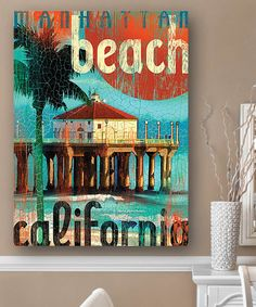 Loving this Manhattan Beach Pier Wall Art on #zulily! #zulilyfinds