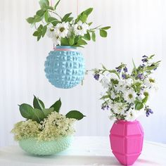 Learn how to transform glass lampshades into fun and beautiful vases and planters with this easy tutorial.