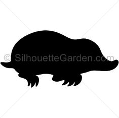 Mole silhouette clip art. Download free versions of the image in EPS, JPG, PDF, PNG, and SVG formats at http://silhouettegarden.com/download/mole-silhouette/